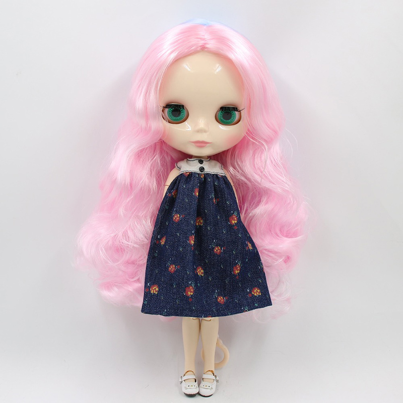 "12/"" Neo Blythe Doll from Factory Jointed Body Pink Purple Double Color Hair"