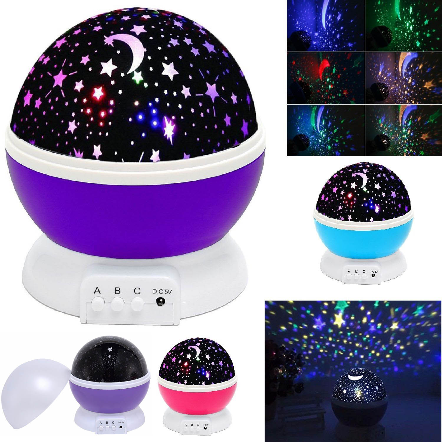 Constellation projector lamps lighting ceiling fans ebay constellation night light baby kids lamp moon star sky projector rotating cosmos mozeypictures