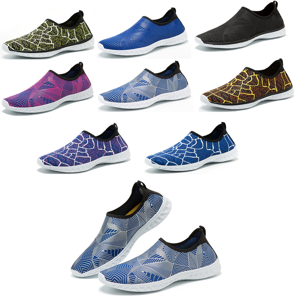 d7eb9f6bd623 Details about Mens Slip on Quick Dry Water Shoes Summer Beach Anti-slip  Surf Swim Pool Shoes