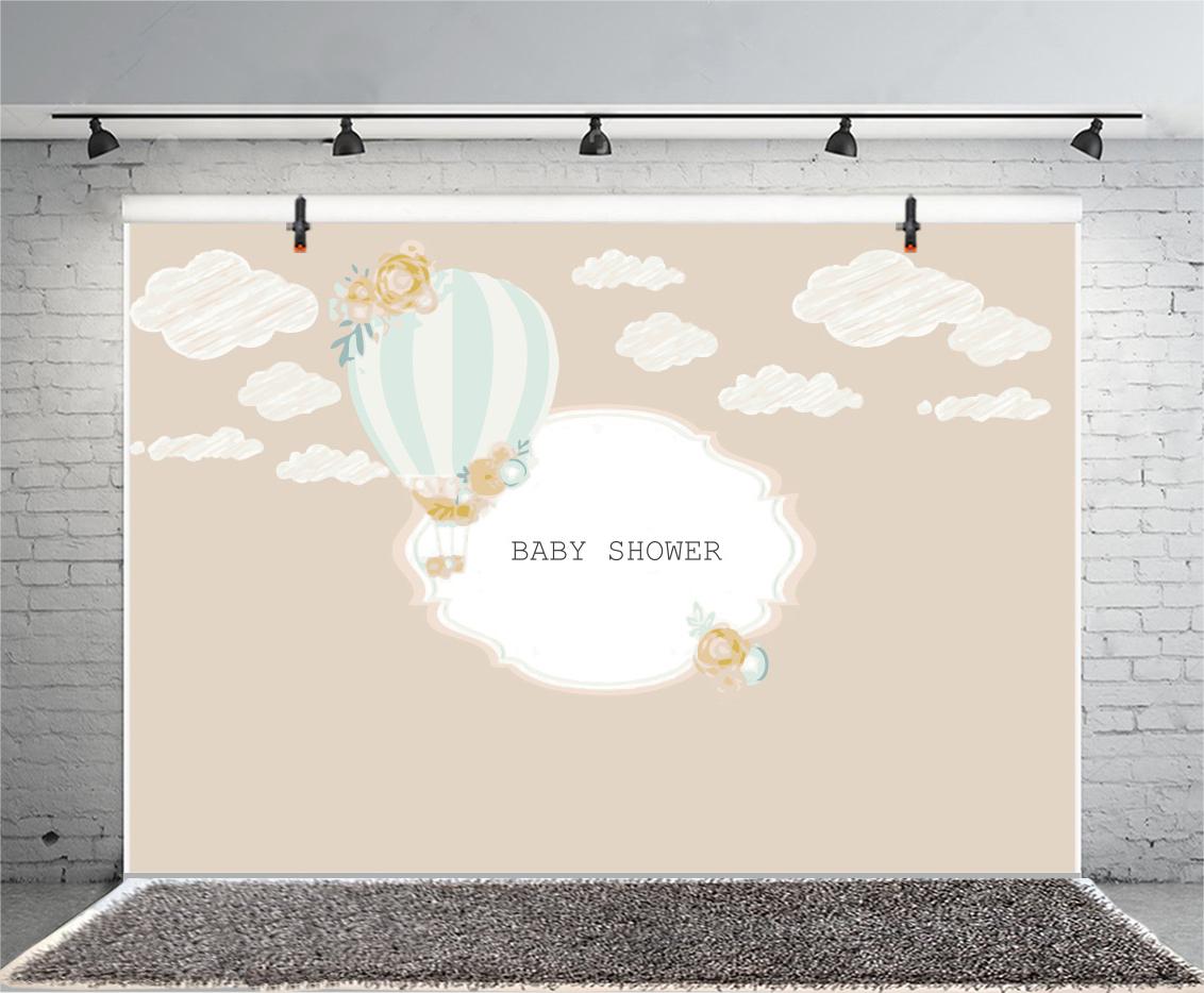 Vinyl Baby Shower Photo Backdrop 7x5ft Cartoon Cloud Hot