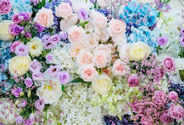 8x8FT Vinyl Wall Photography Backdrop,Flower,Romance Flowers Bouquet Photo Backdrop Baby Newborn Photo Studio Props