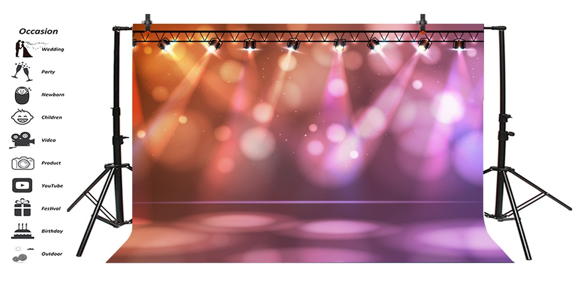 5x5FT Vinyl Photo Backdrops,Lantern,Festival Chinese Colorful Photo Background for Photo Booth Studio Props
