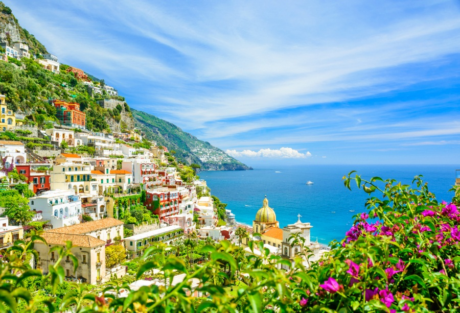 Details About Positano Amalfi Coast Blurred Flowers Photo Backdrop 10x6 5ft Background Props