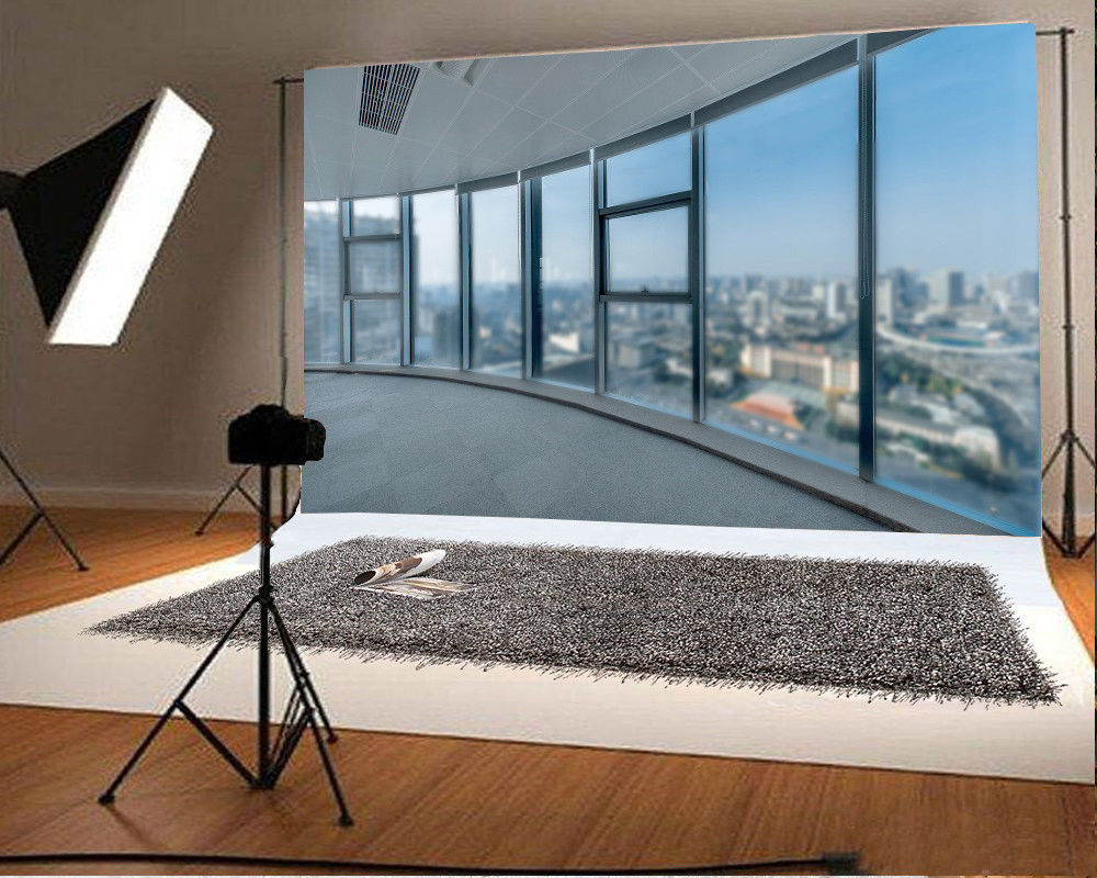 7x5ft Office Window Backdrop Props City View Photography