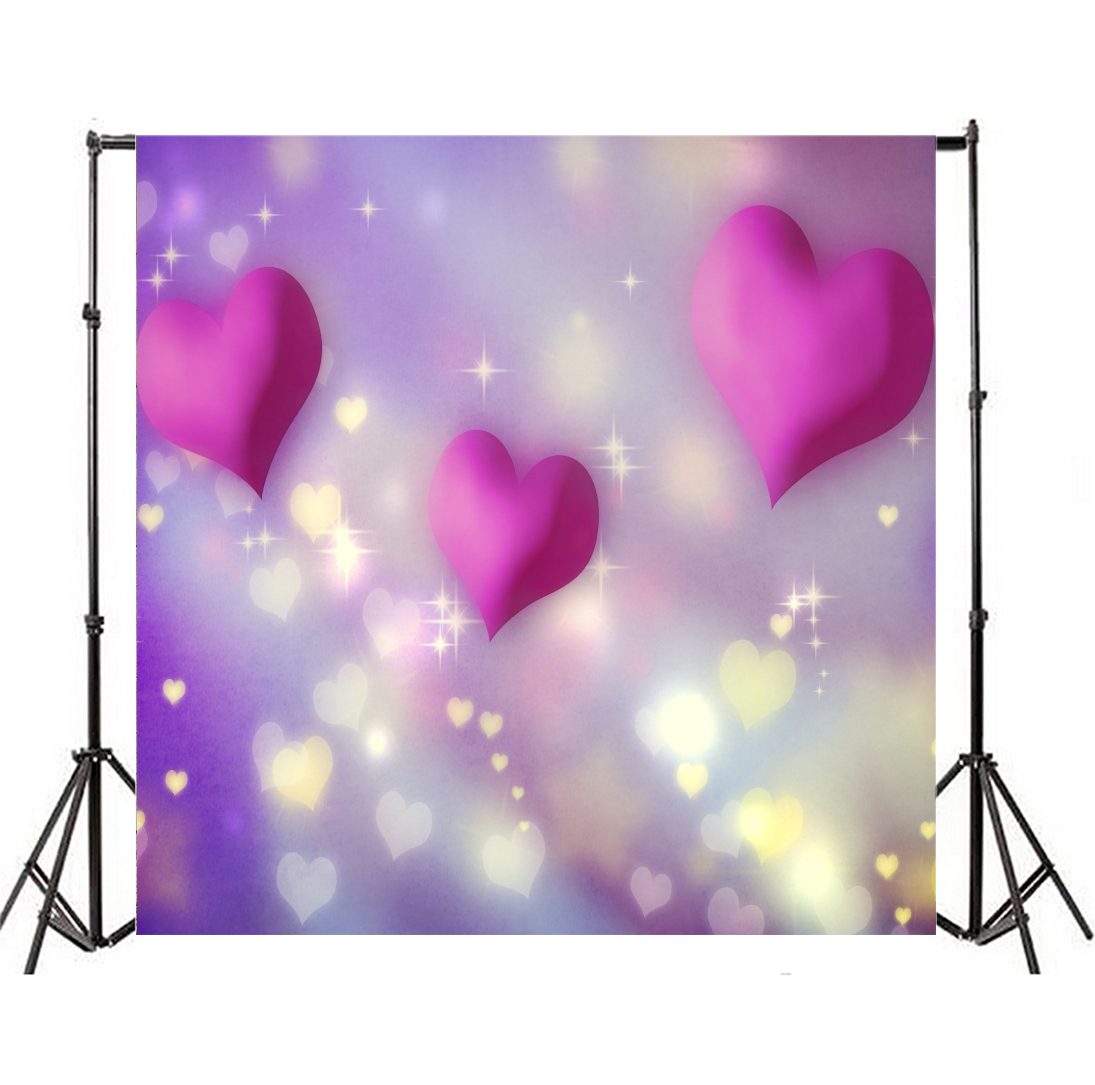 valentine's day theme photo background 10x10ft bokeh love hearts