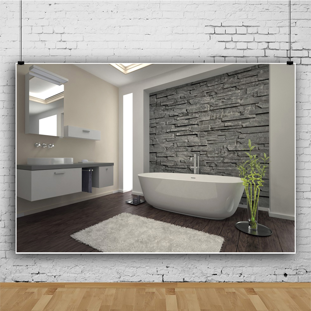 Details About 8x6ft Modern Washing Bathroom Indoor Stone Wall Backdrop Background Photography