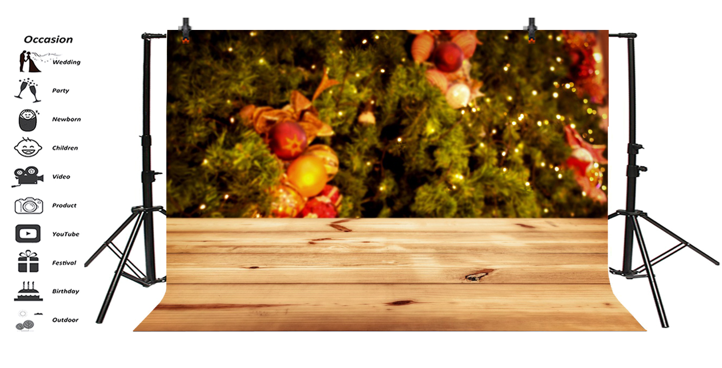 Christmas New Year Blurred Light Bokeh Backdrop 10x6 5FT Photo