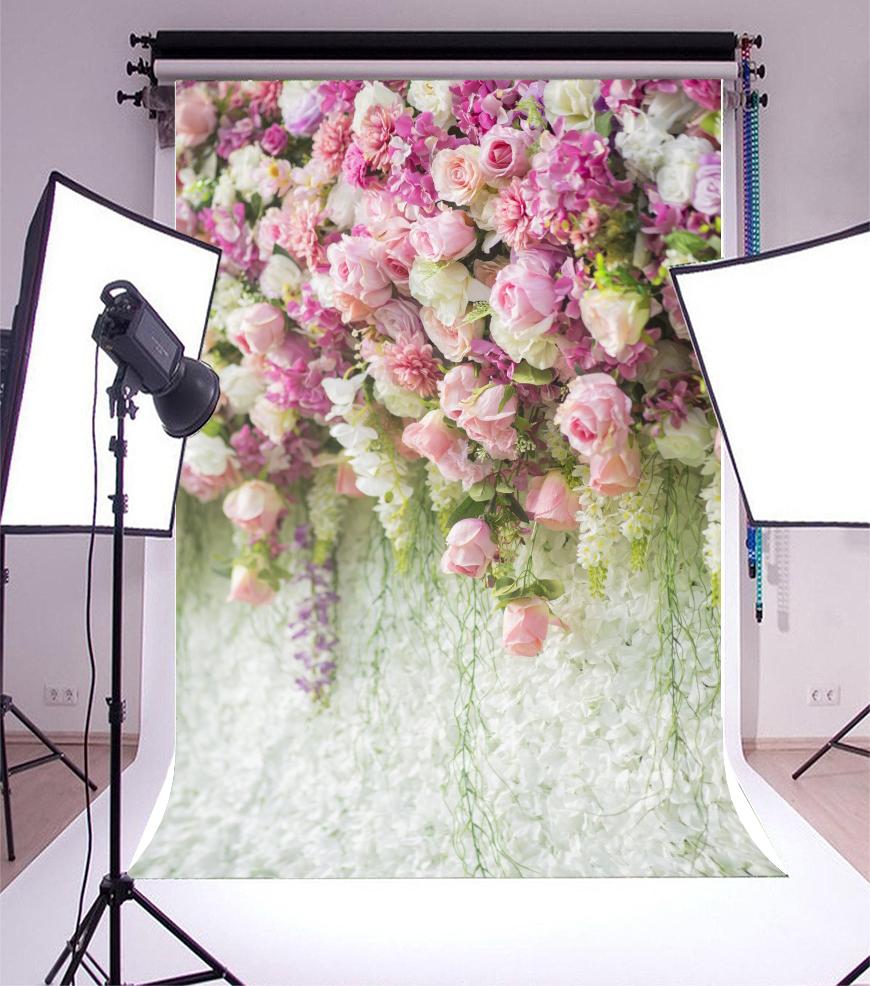 GoHeBe Fullframe Red Rose Flower Wall Backdrop 10x7ft Vinyl Floral Wedding Stage Background Wedding Celebration Photo Booth Flower Decoration Bride Portrait Shoot Bridal Shower Banner Lovers Shoot