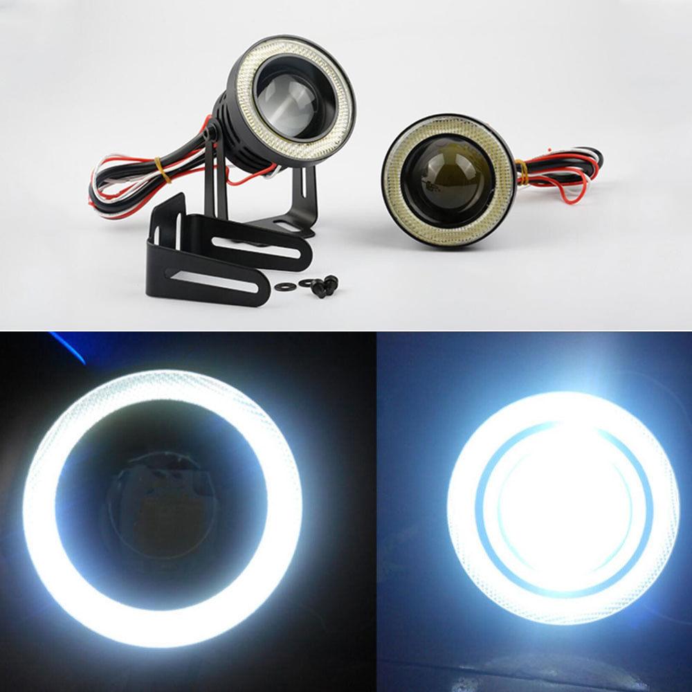 2Pcs 12V LED Daytime Running Light Two Color with Turn Signal Light Fit for Navara NP300 15-18 Aramox Daytime Running Lamp