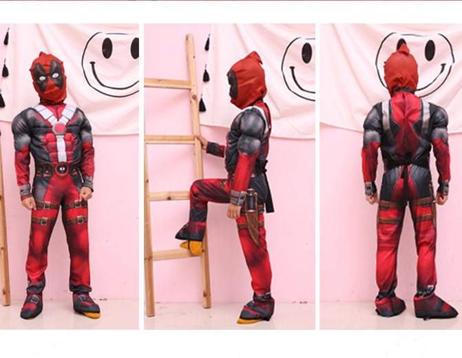 Deadpool Costume Con Máscara Niños Superhéroe Disfraz Cosplay
