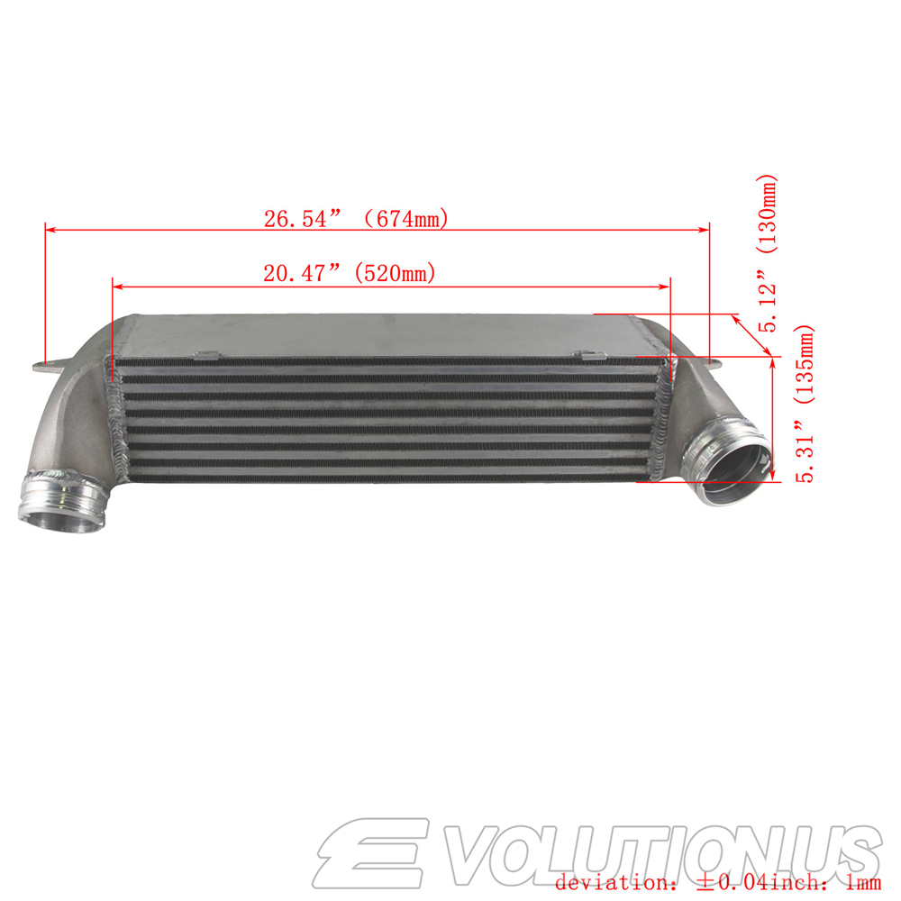 FMIC Racing Intercooler Kit For 2007-2013 BMW E90 335i 335xi 135i N54 N55 Silver