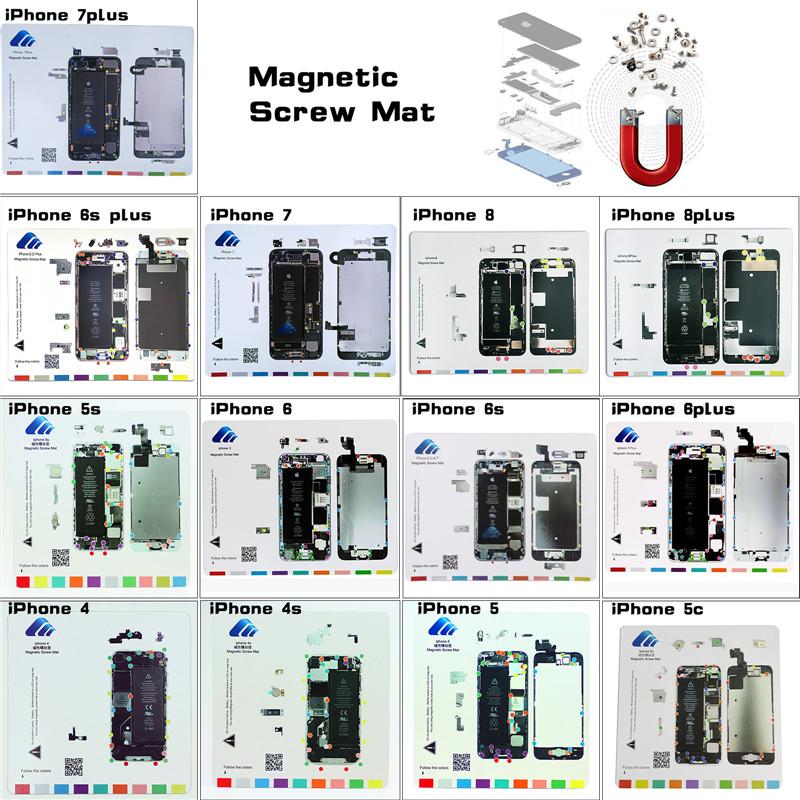 Phone Repair Parts Guide Pad Magnetic Screw Keeper Mat For
