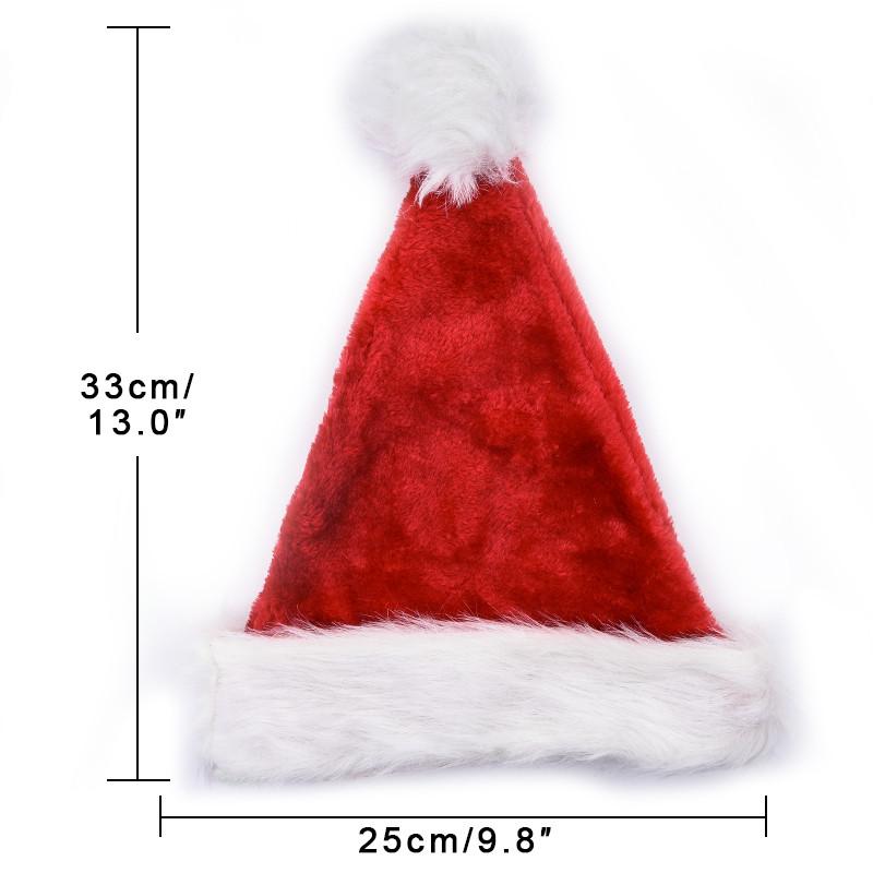 64ae815f11595 Details about Red Kids Luxury Xmas Santa Child Velvet Fur Felt Christmas  Party Fancy Dress Hat