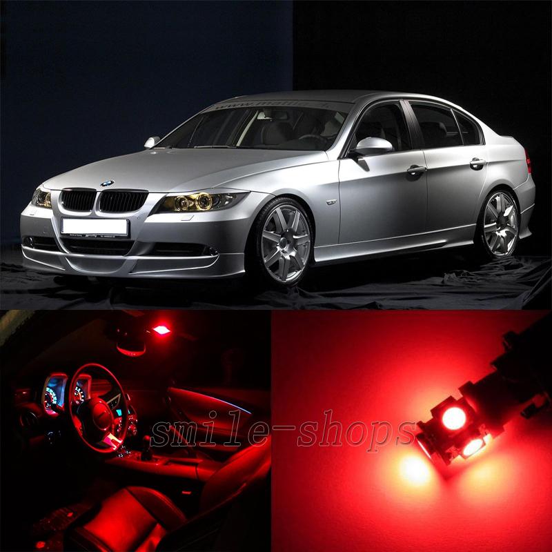 16pcs Red Interior LED Light Kit For BMW 3 Series E90 E91 E92 E93 M3  2006 2011