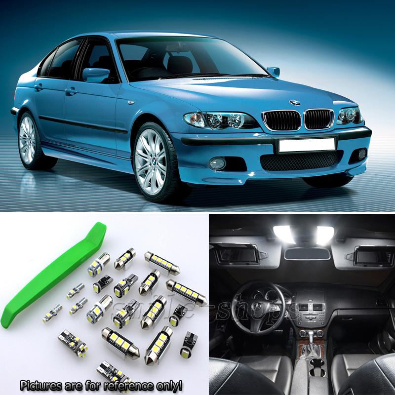 7pcs Super White LED Interior Light Kit For BMW 3 Series E46 318i 4 Cylinder