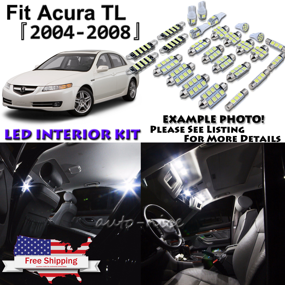 15x White LED Interior Lights Package Kit For 2004