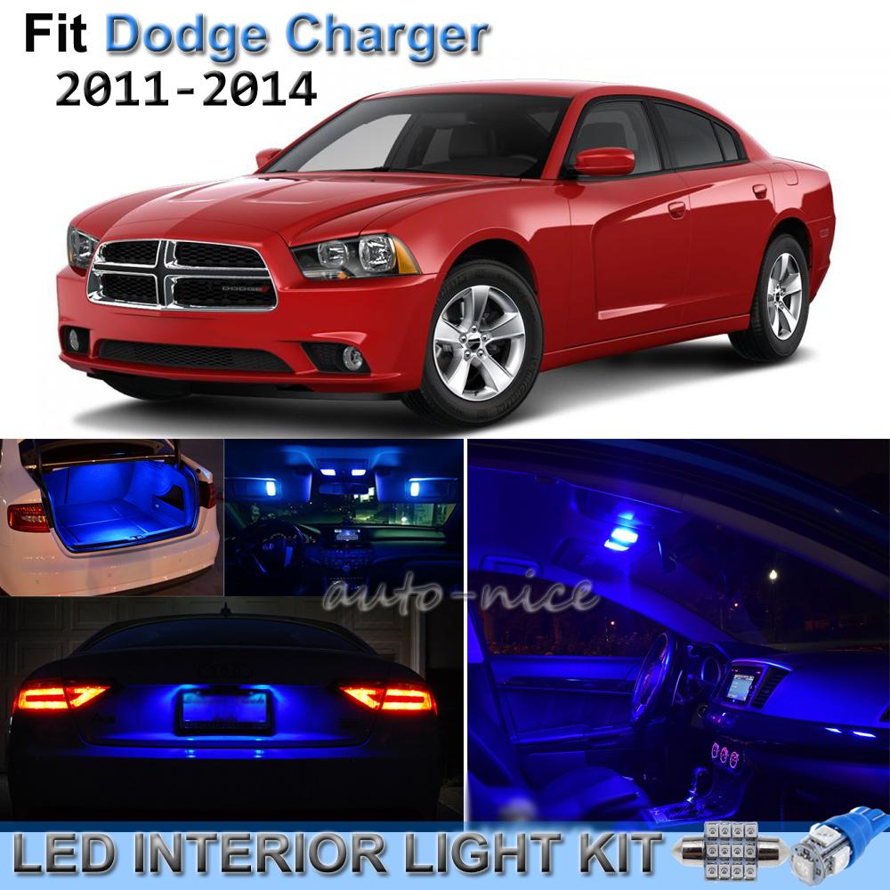 2011-2014 Dodge Charger Blue LED Interior Lights Package Kit