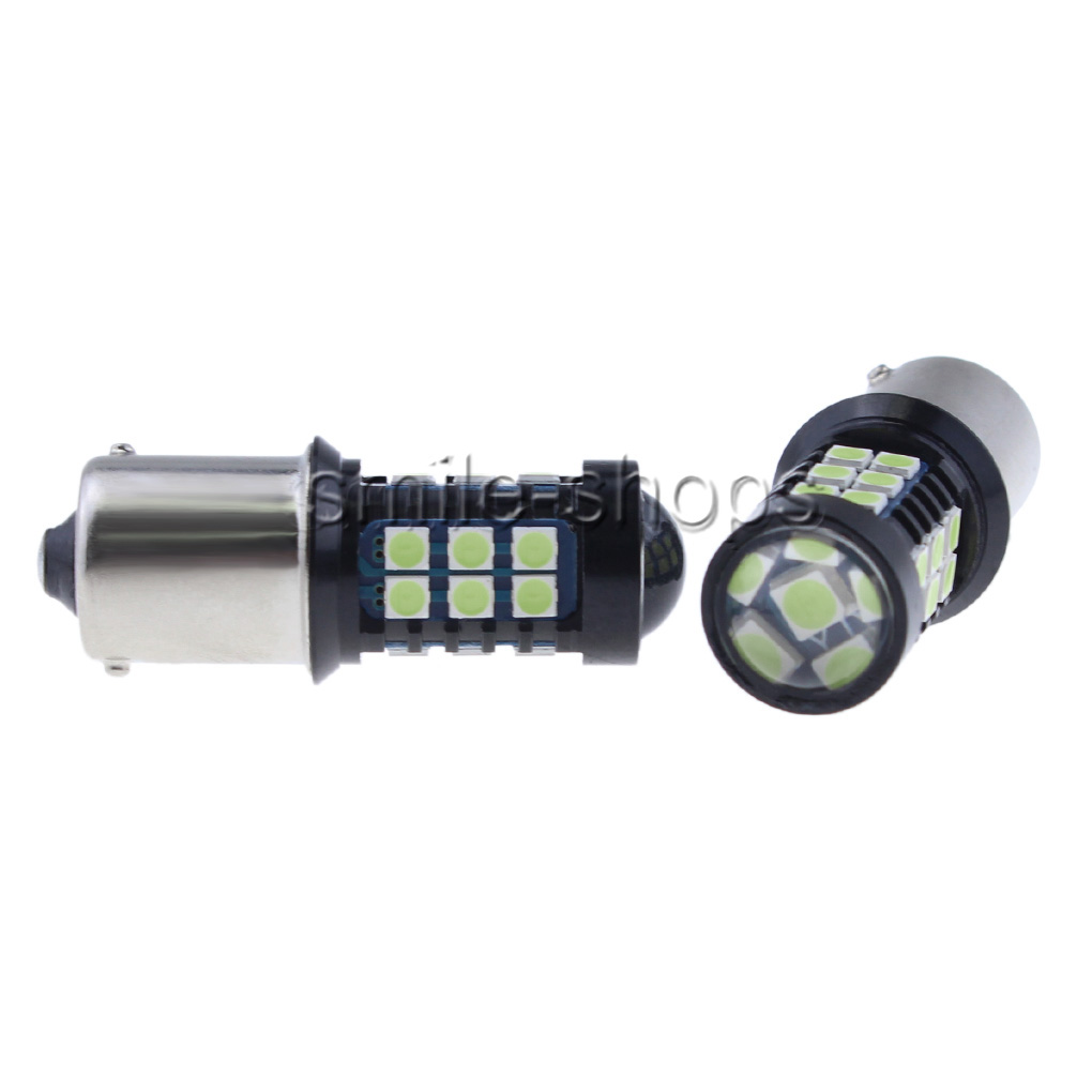 For Lancer Evo X Ice Blue 1156 30 3030 SMD LED Bulbs Daytime Running Lights DRL