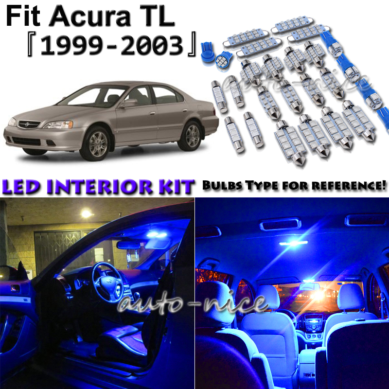 10x Blue LED Interior Lights Package Kit For 1999 2000