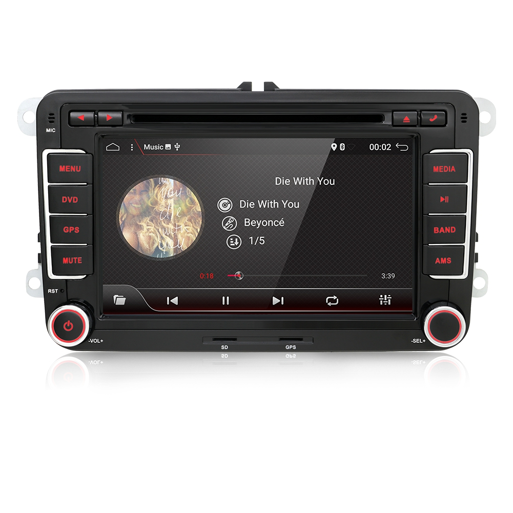 android 7 2din dvd gps navigation autoradio f r vw golf t5. Black Bedroom Furniture Sets. Home Design Ideas