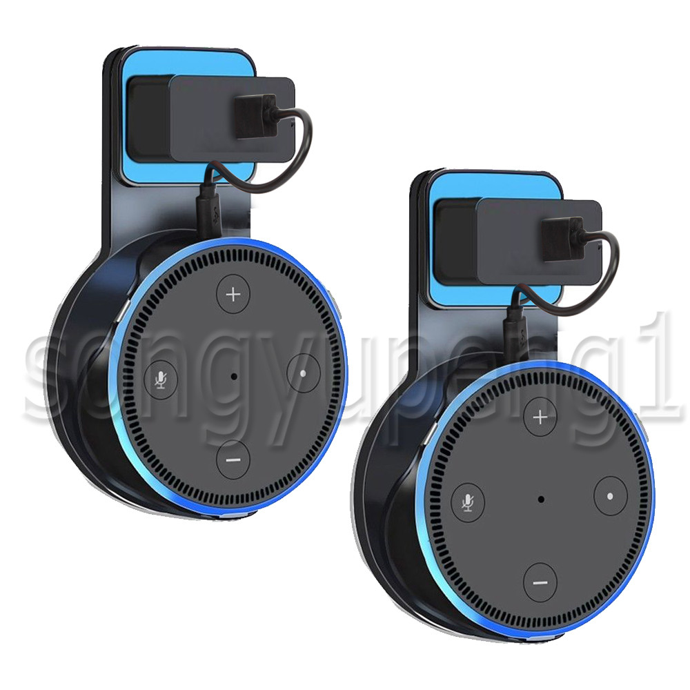 2 Pack Amazon Echo Dot Alexa 2nd Generation Holder Wall Mount Outlet Holder