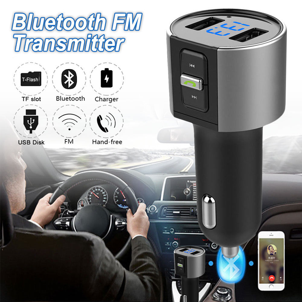 3.4A Wireless Bluetooth Car USB Charger FM Transmitter Radio Adapter MP3 Player