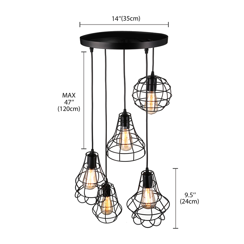 Details About Industrail Kitchen Island Pendant Lighting Fixture Loft Metal Multi Lamp