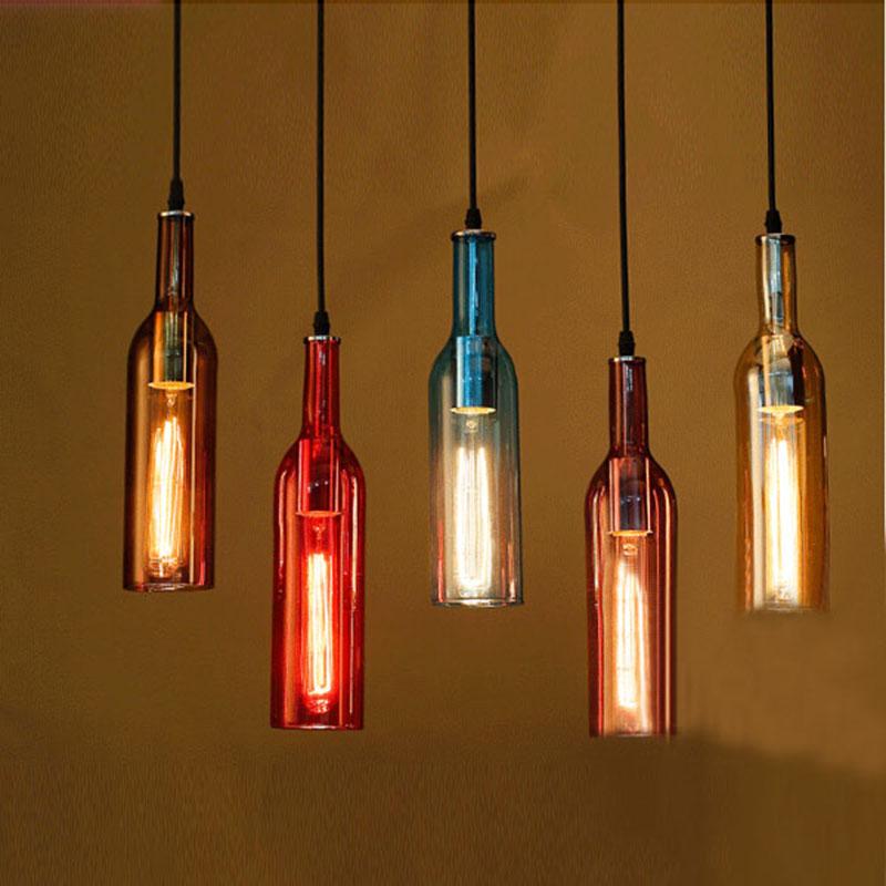 Chandelier Modern Bar Wine Bottle Lamp
