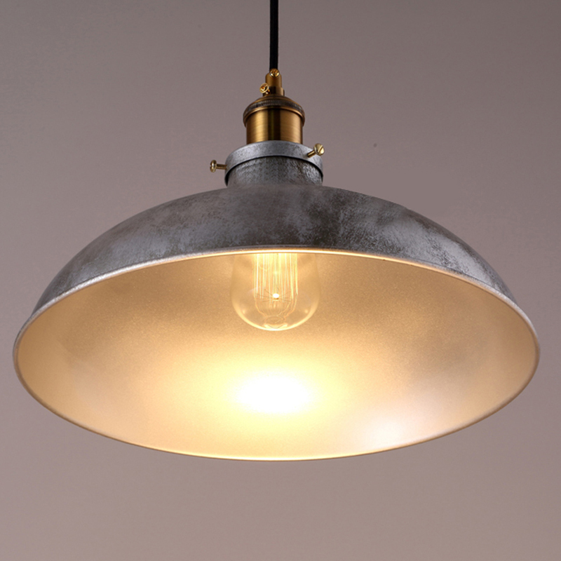 Industrail Warehouse Pendant Light Silver Dome Shade