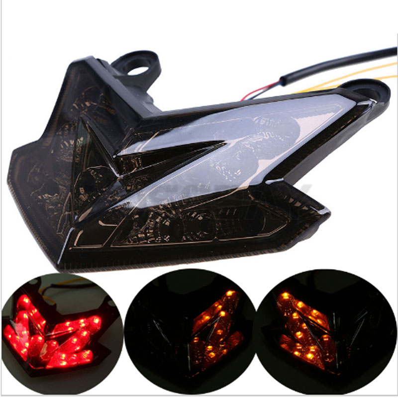 LED Taillight Integrated Turn Signal For KAWASAKI Z800 13-16 Z125 ZX-6R NINJA