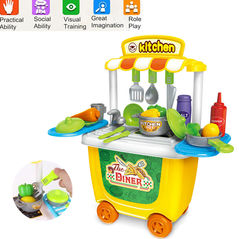 Kids Pretend Role Play Toy Kitchen Doctor Supermarket Makeup Ice ...