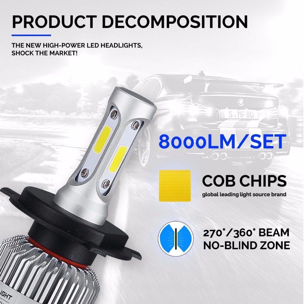 4pc Led Headlight Bulbs Kit H11 9005 High Low Beam For