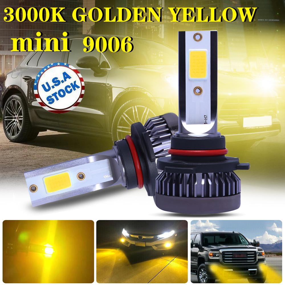 Pair 9006 Fog Light LED Headlight Bulbs For Acura TL 2002-2006 MDX 2001-2003 US