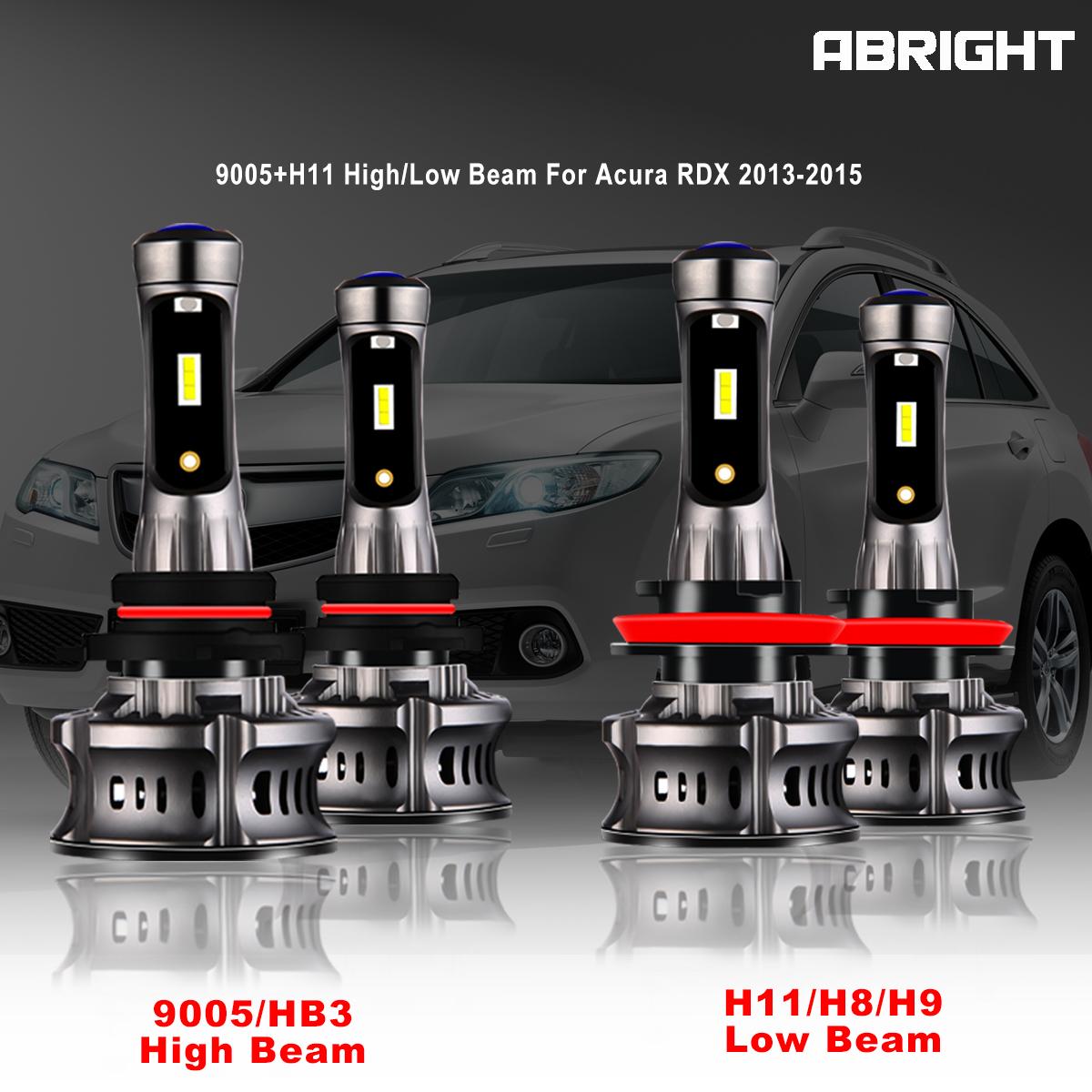4pcs Kit H11 9005 LED Headlight For Acura RDX 2013-2015