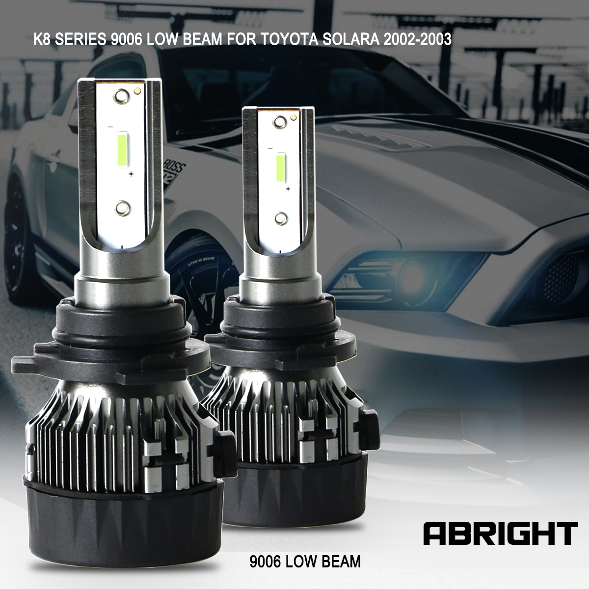LED Headlight Bulbs CSP CHIPS 9006 HB4 Low Beam For Toyota