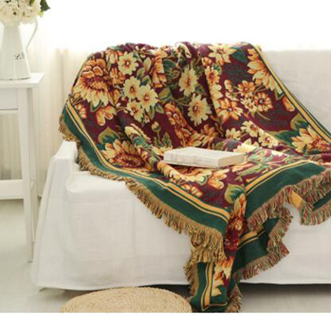 Image Is Loading Double Side Floral European Style Sofa Cover Throw