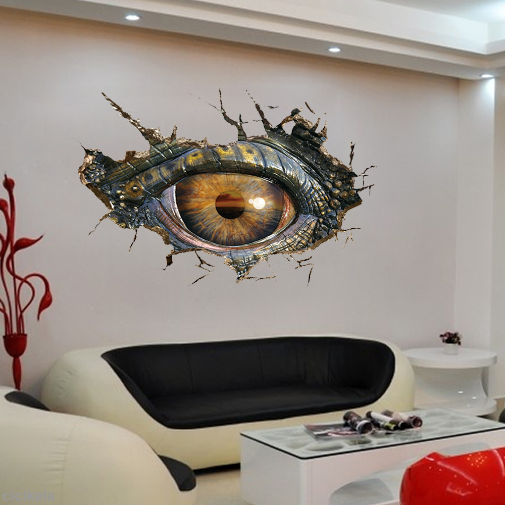 3d removable dinosaurs eye wall stickers bedroom home decor art 3d removable dinosaurs eye wall stickers bedroom home decor art mural diy amipublicfo Images