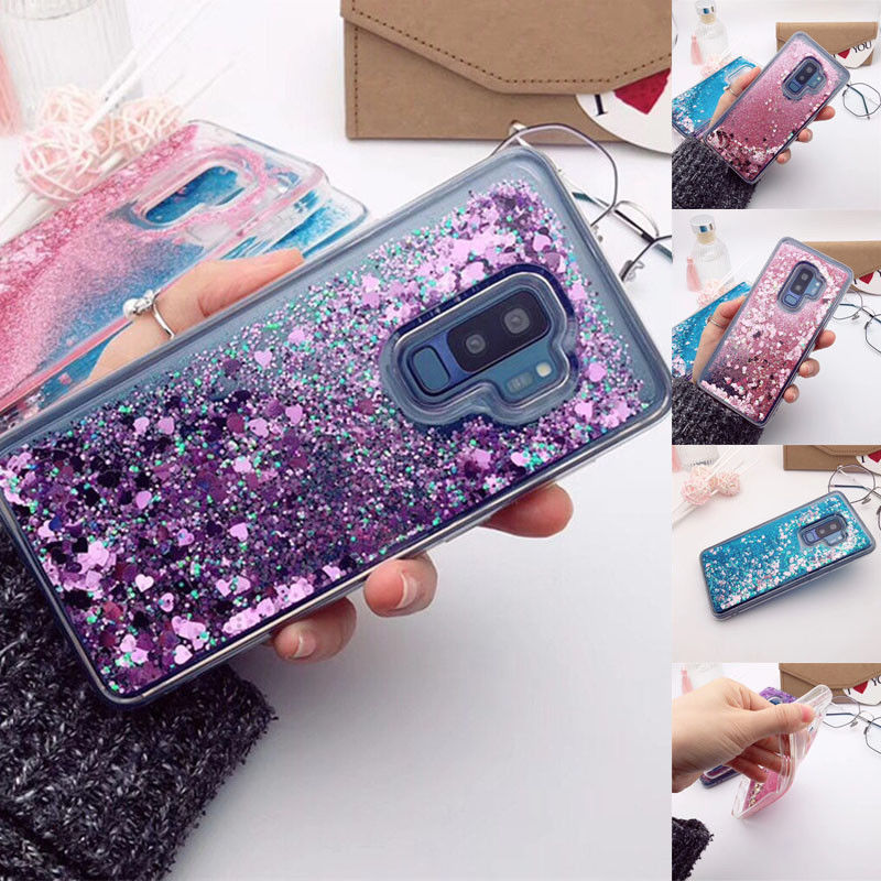 finest selection 74163 d6626 Details about For Samsung S9 S10 S8 Plus Quicksand Glitter Dynamic Liquid  Clear TPU Case Cover
