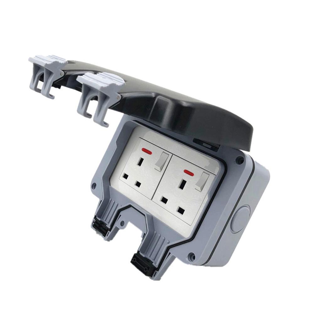 Ip66 Waterproof Switch Socket Uk Standard Wall Mount With