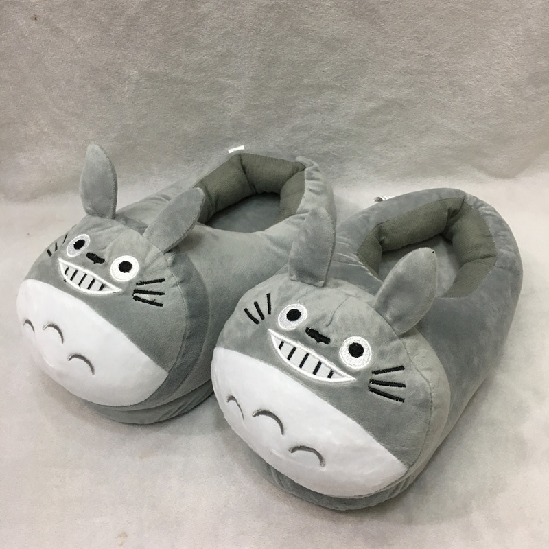 2d676a595ede 1 Pair My Neighbor Totoro Plush Slippers Soft Toy Adult Shoes Anime Gift 27  CM