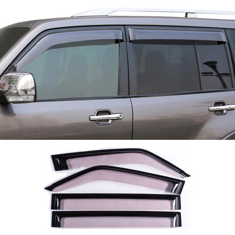 4pcs Smoke Window Visor for Mitsubishi Outlander Vent Rain Sun Deflectors Guard