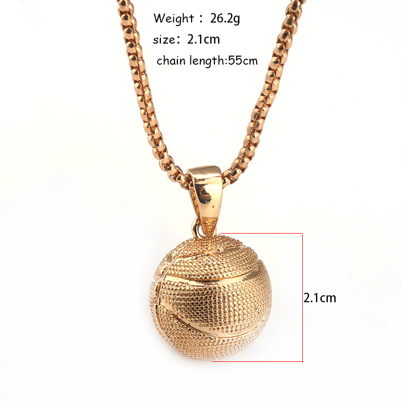 3d basketball rugby pendant necklaces sports hip hop jewelry chain 3d basketball rugby pendant necklaces sports hip hop aloadofball Image collections