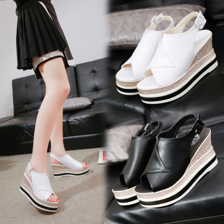 Ladies Womens New Wedge Heel Sling Back Open Toe Beach Summer Sandals Shoes Size