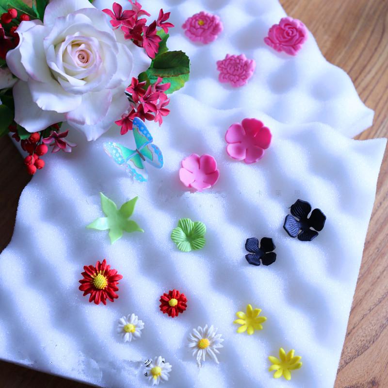 2PCS Cake Fondant Sponge Pads DIY Paste Flower Drying Holder SJ