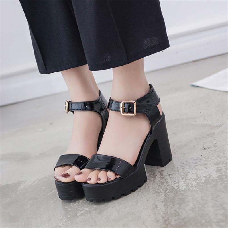 18e4e6a9773 New Women Summer Gladiator Platform Sandals Chunky High Heel Open ...