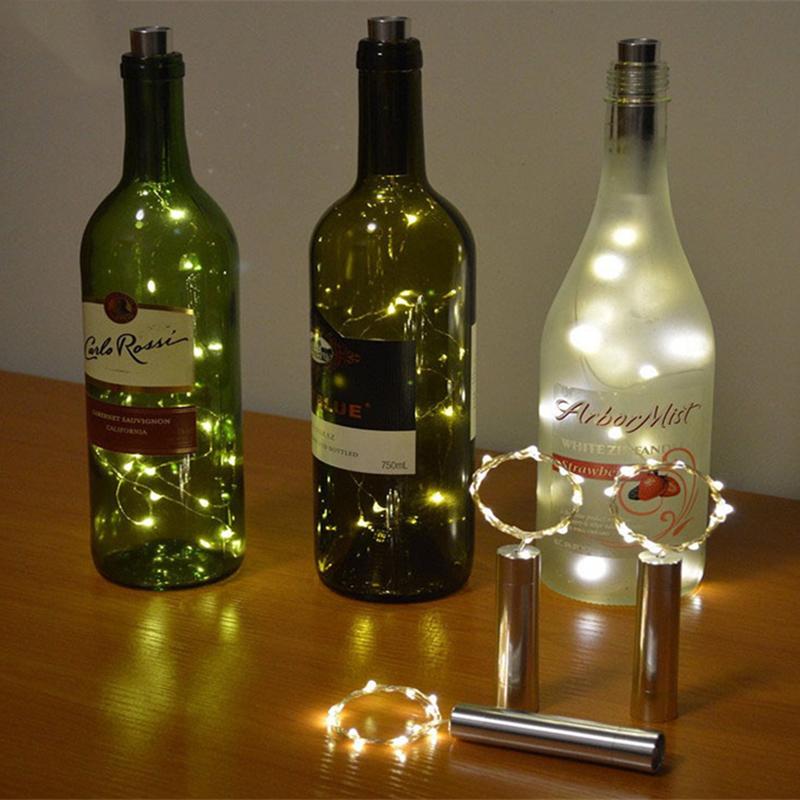 wine bottle lighting. Bottle Lights Cork Shape For Wine Starry String Party Lighting