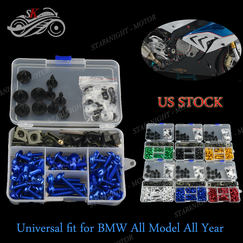 Details about Universal Motorcycle Complete Fairing Bolt Kit Generic for  BMW F650GS 2013-2017
