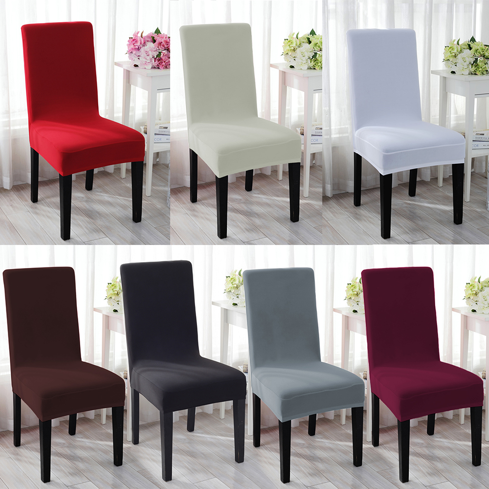 Cover Dining Room Chairs: Stretch Spandex Dining Chair Seat Cover Protector