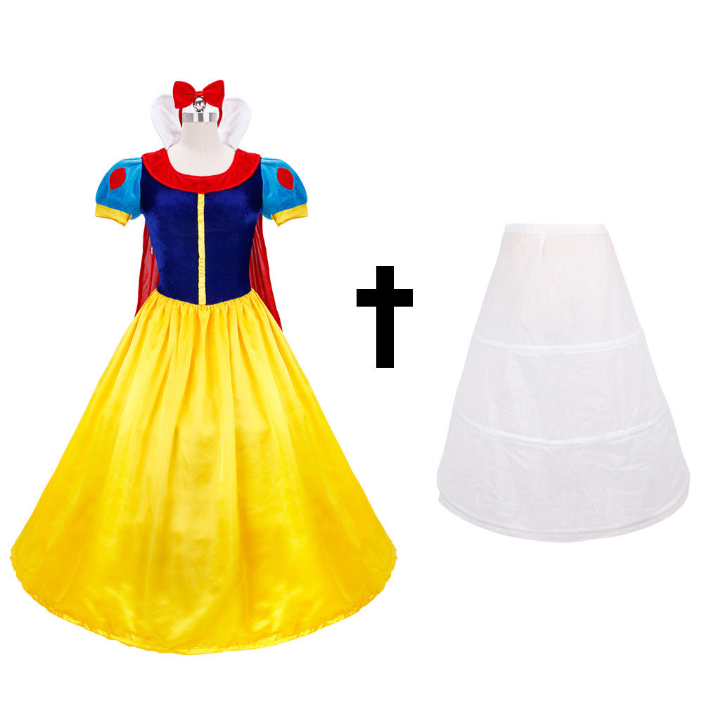 Adult Snow White Princess Cosplay Costume Halloween Fairytale Party ...