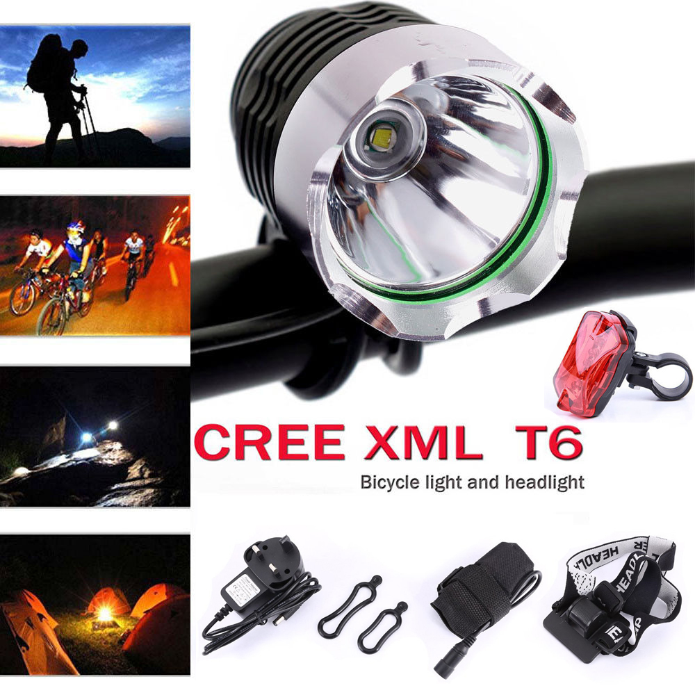 8000LM LED CREE XML T6 Bike Front Lamp Bicycle Cycling Torch Headlight UK MCVH